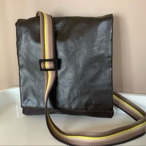 GUESS leather messenger bag